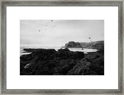 Mysterious Yaquina Head Framed Print by Mark Kiver