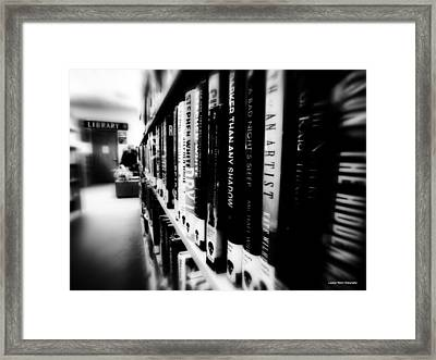 Framed Print featuring the photograph Mystery At The Library by Lucinda Walter