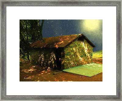 Mystery Cottage Framed Print by RC DeWinter