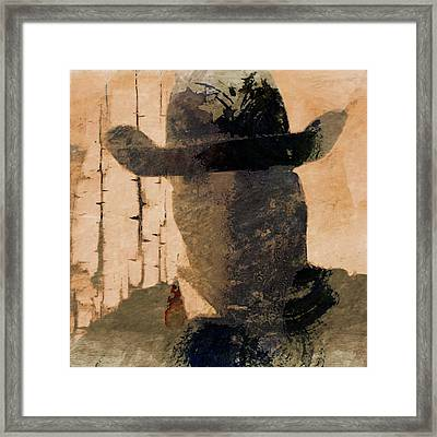 Framed Print featuring the photograph Mysterious Cowboy  by Aaron Berg