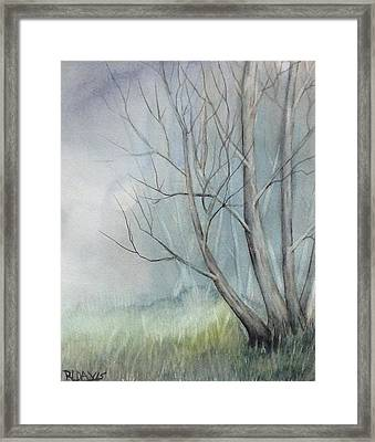Framed Print featuring the painting Mystery Forest by Rebecca Davis