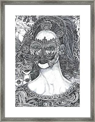 Framed Print featuring the mixed media Mystery Girl by Giovanni Caputo