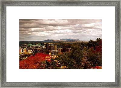 Mystery In Fall In Montreal Framed Print by Jocelyne Choquette