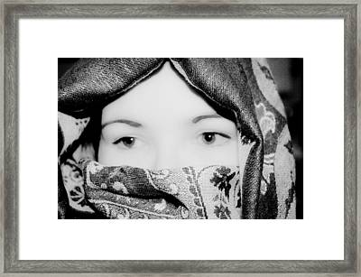Mystery In Thought Framed Print by Michelle McPhillips