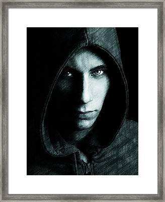 Mystery Man Framed Print by Gun Legler