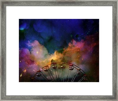 Take A Mystery Ride In The Multicolored Clouds Framed Print by Gothicrow Images