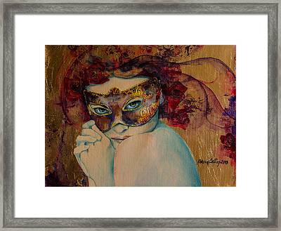Mystery Roses Framed Print by Dorina  Costras