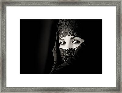 Mystery That Is Woman Framed Print by Hugh Smith
