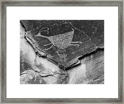 Mystery Valley Petroglyph Monument Framed Print