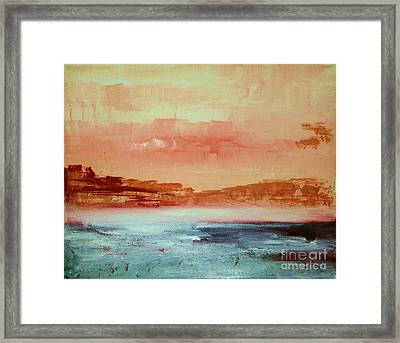 Framed Print featuring the painting Mystery Waters by Julie Lueders