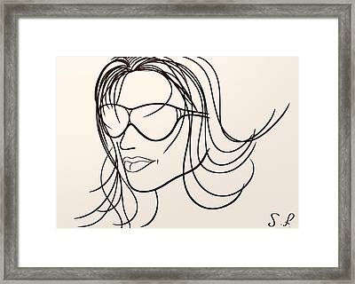 Mystery Woman Framed Print by Sotiris Filippou