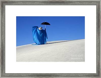 Mystic Blue 7 Framed Print by Bob Christopher