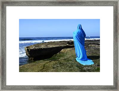 Mystic Blue By The Sea 1 Framed Print