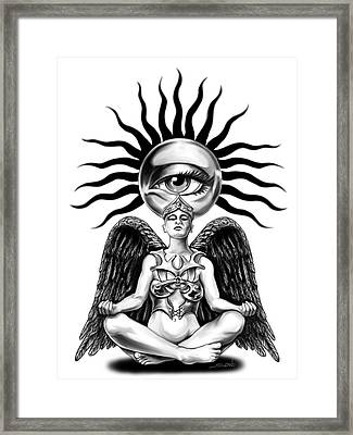 Mystic Contemplation By Spano Framed Print by Michael Spano