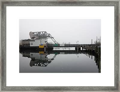 Framed Print featuring the photograph Mystic Ct Drawbridge by Kirkodd Photography Of New England