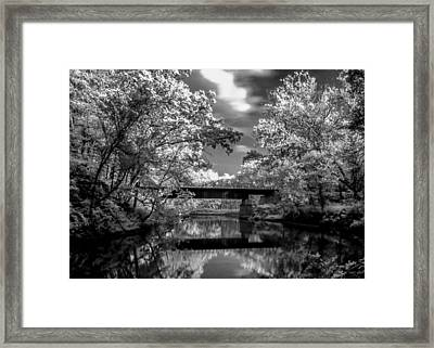 Framed Print featuring the photograph Mystic Cuyahoga by David Stine