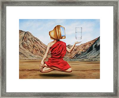 Mystic Data Framed Print