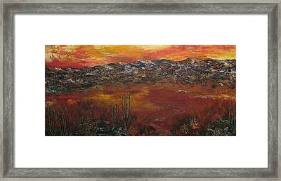 Mystic Desert Framed Print by Linda Eversole