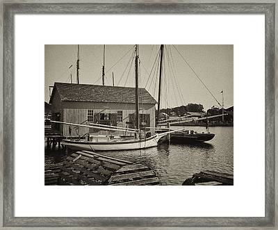 Mystic Dock Framed Print