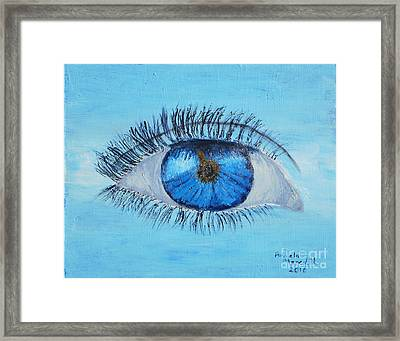 Framed Print featuring the painting Mystic Eye by Pamela  Meredith