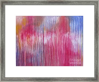 Framed Print featuring the painting Mystic Forest by Nereida Rodriguez