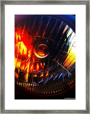 Mystic Headlight Framed Print by Anthony Scarpace