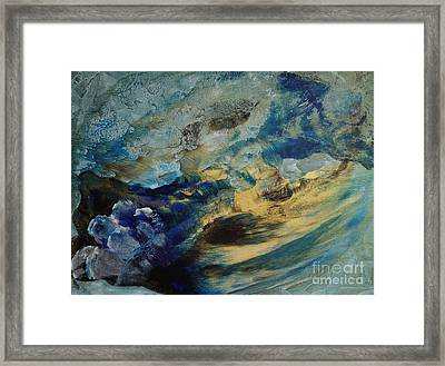 Mystic Lake Framed Print by Valia US