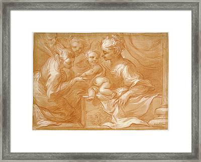 Mystic Marriage Of Saint Catherine Bartolomeo Biscaino Framed Print