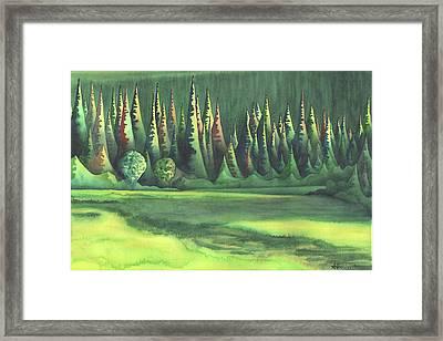 Mystic Marsh Framed Print by Anne Havard