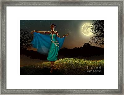 Mystic Moonlight V1 Framed Print by Bedros Awak