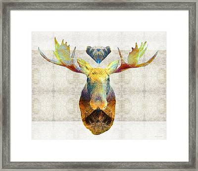 Mystic Moose Art By Sharon Cummings Framed Print