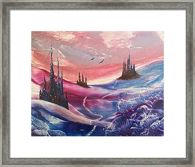 Mystic Mountain Framed Print by Moe Hussain