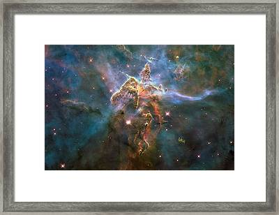 Mystic Mountain Framed Print by L Brown