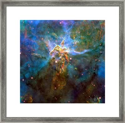 Mystic Mountain Framed Print by Georgia Fowler