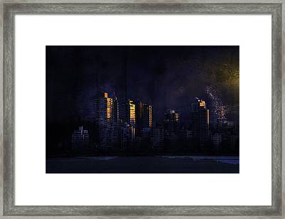 Mystic Orange Glowing Sunrise On Vancouver   Framed Print
