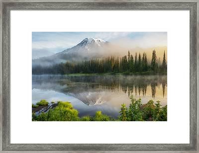 Mystic Rainier Framed Print