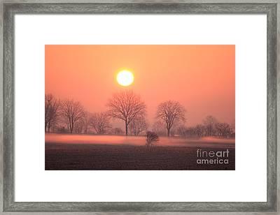 Mystic Red Sunrise Framed Print