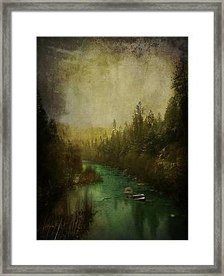 Mystic River Framed Print by Leah Moore