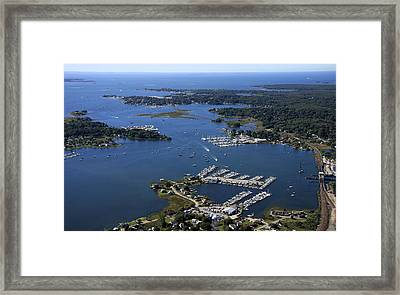 Mystic River, Mystic Framed Print by Dave Cleaveland
