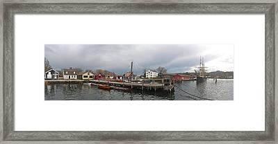 Mystic Seaport Framed Print