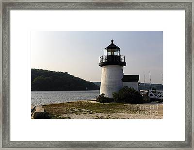 Mystic Seaport Light Framed Print by George Oze