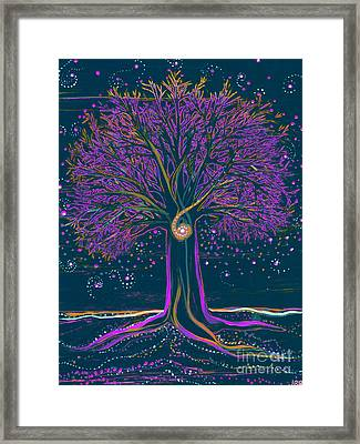 Mystic Spiral Tree 1 Purple Framed Print