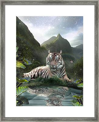 Mystic Tigress Framed Print by Alixandra Mullins