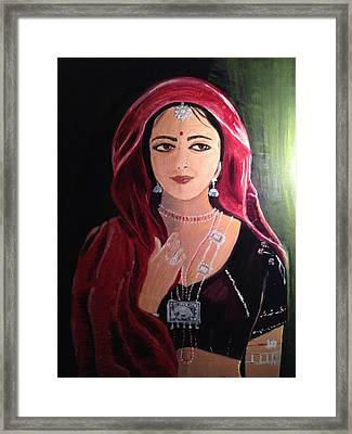 Mystic Woman Framed Print by Brindha Naveen