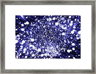 Mystic Zoom Blue Framed Print
