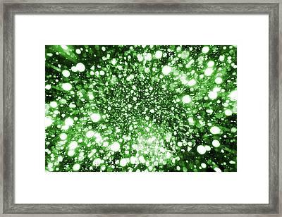 Mystic Zoom Green Framed Print