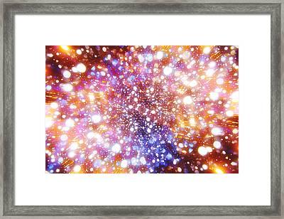 Mystic Zoom Multi-colour Framed Print