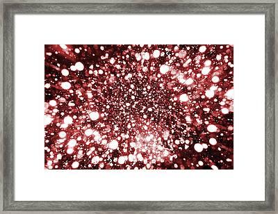 Mystic Zoom Red Framed Print