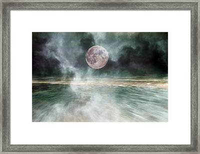 Mystical Beach Moon Framed Print by Betsy Knapp