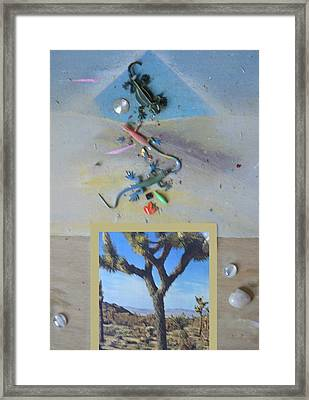 Framed Print featuring the photograph Mystical Desert  A by Mary Ann  Leitch